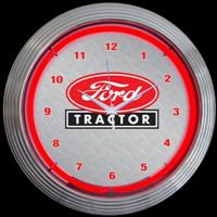 "Ford Tractor Neon Clock 15"" – Guaranteed bright and brilliant neon color! Quality neon clocks and neon wall clocks for less. Full 1-5 year no hassle warranty."