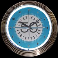 "Ford Thunderbird Neon Clock 15"" – Guaranteed bright and brilliant neon color! Quality neon clocks and neon wall clocks for less. Full 1-5 year no hassle warranty."
