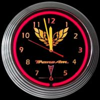 "Trans Am Neon Clock 14.5"" – Guaranteed bright and brilliant neon color! Quality neon clocks and neon wall clocks for less. Full 1-5 year no hassle warranty."