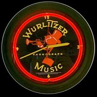 "Wurlitzer Neon Clock 14.5"" – Guaranteed bright and brilliant neon color! Quality neon clocks and neon wall clocks for less. Full 1-5 year no hassle warranty."