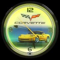 "Corvette C6 Yellow Neon Clock 20"" – Guaranteed bright and brilliant neon color! Quality neon clocks and neon wall clocks for less. Full 1-5 year no hassle warranty."
